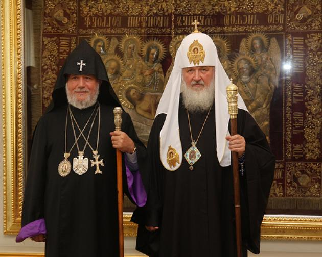 His Holiness Karekin II Honored in Moscow, Russia