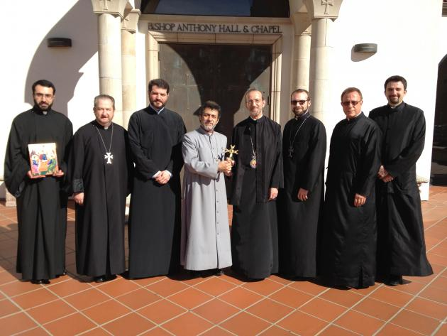 Feb. 28 - Primate Meets Metroplitan Gerasimos of the Greek Orthodox Church in San Francisco