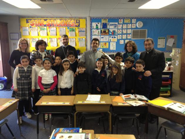 Feb. 27 – Primate Visits Charlie Keyan Armenian Community School of Fresno